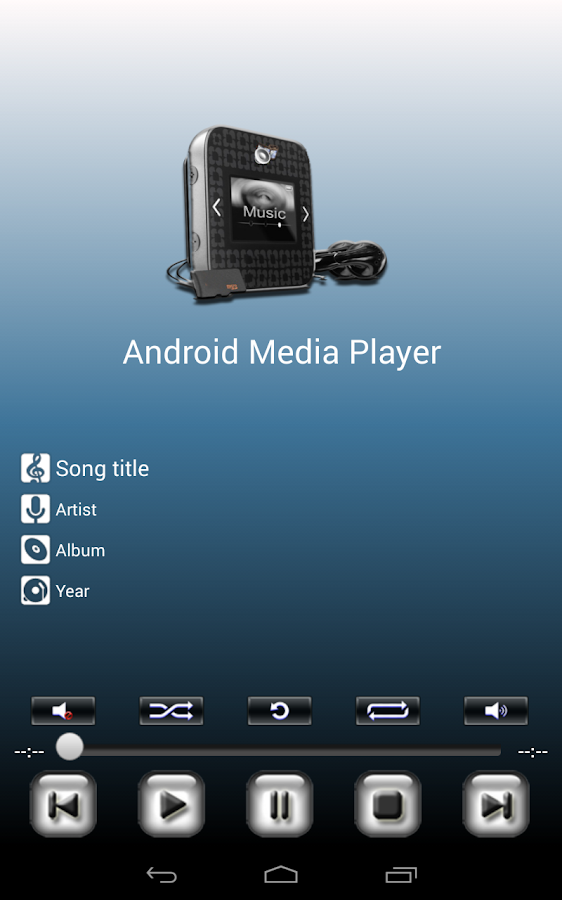 Media Player for Android- screenshot