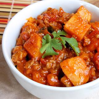 Stovetop Sweet Potato, Kale and Turkey Chili