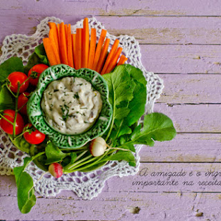 Mushroom Dip with Vegetables
