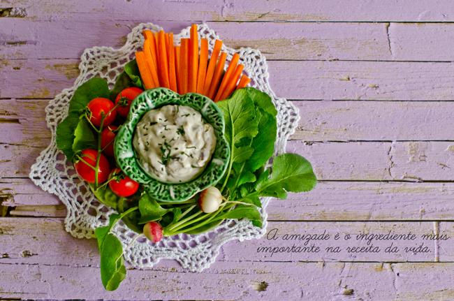 Mushroom Dip with Vegetables Recipe