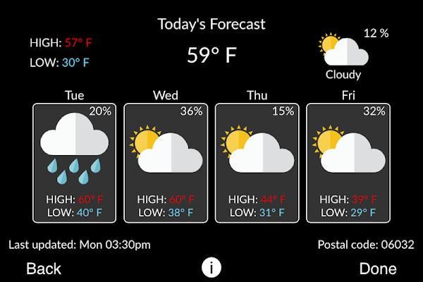 Carrier® Côr™ Thermostat - screenshot