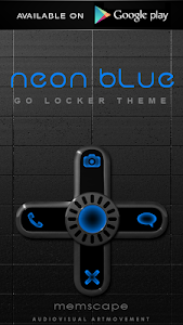 Poweramp skin Neon Blue v1.34