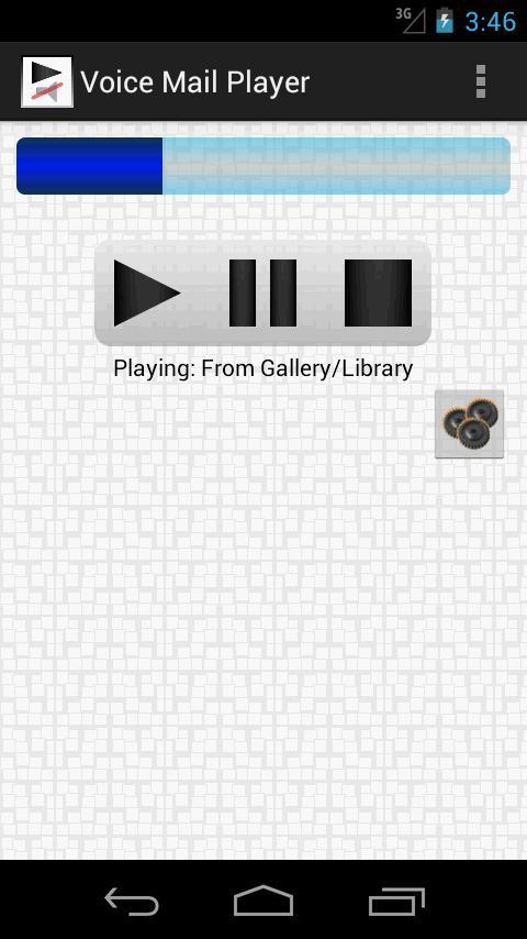 Voice Mail Player (earpiece) screenshot #1