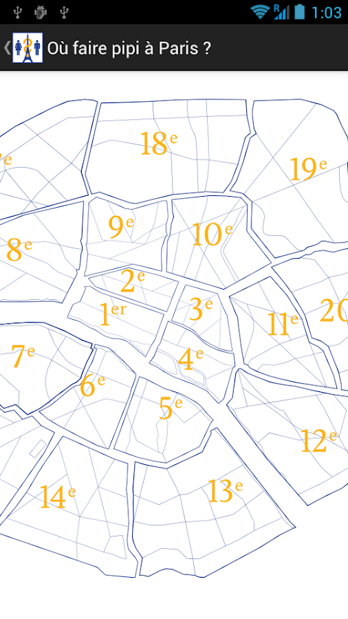 Where to pee in Paris?- screenshot