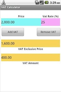 VAT Calculator - screenshot thumbnail