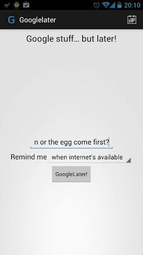 Googlelater