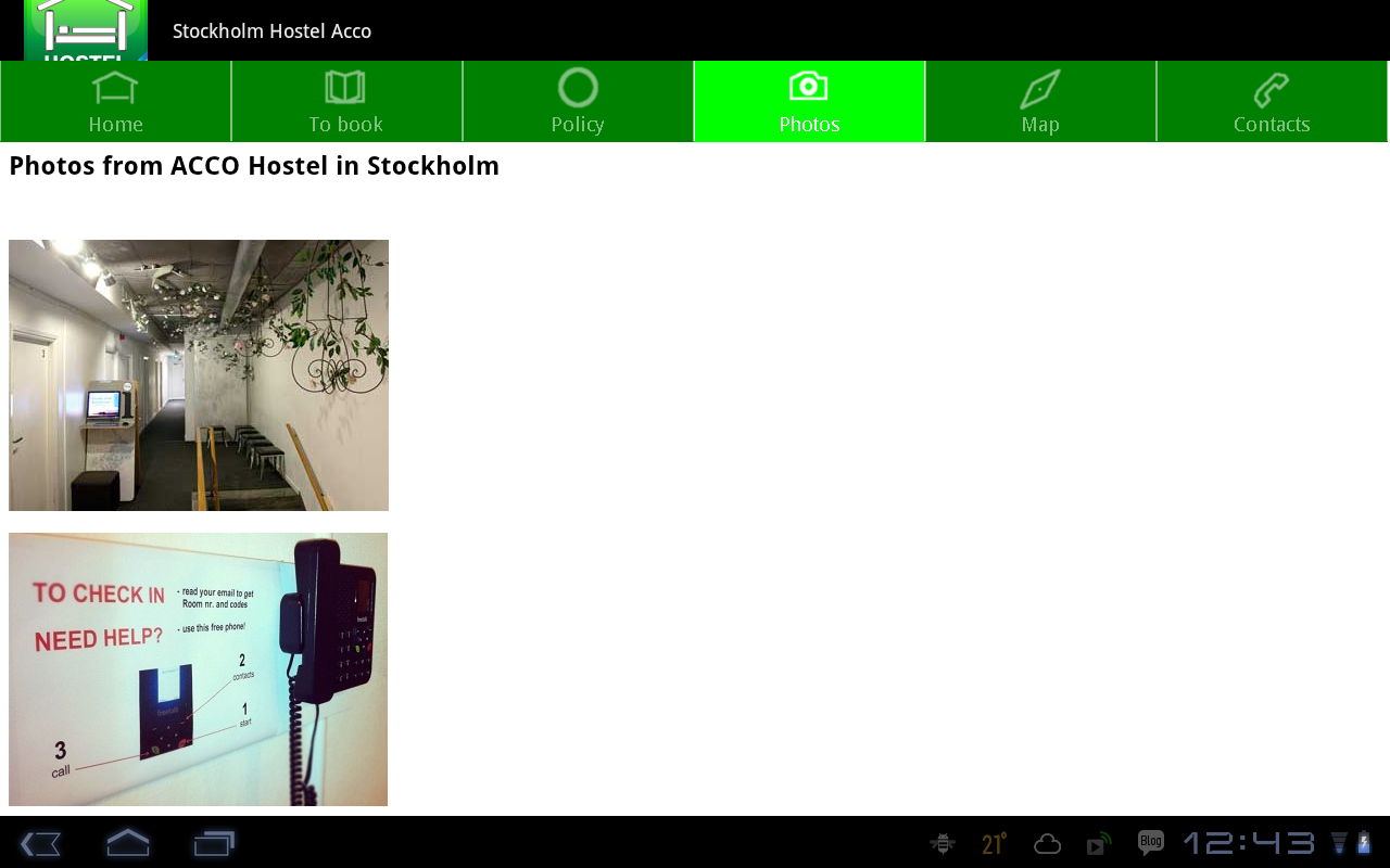 Stockholm Hostel ACCO - screenshot
