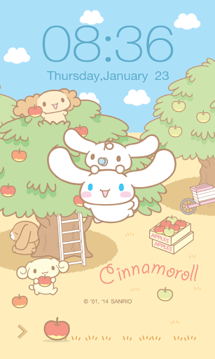 Cinnamoroll Apple Screen Lock