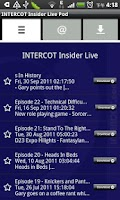 Screenshot of INTERCOT Insider Live