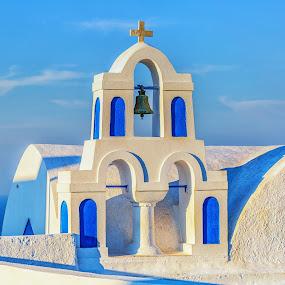 It's About Santorini Blues by Ronald Susaya - Uncategorized All Uncategorized ( blue, greece, churches, greek isles, cyclades, santorini,  )