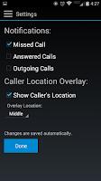 Screenshot of Call Locations