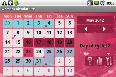 Calendario de la Mujer: captura de pantalla