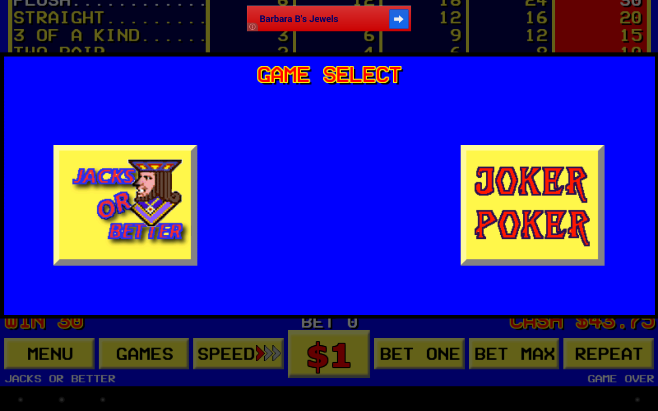 Sin City Video Poker- screenshot