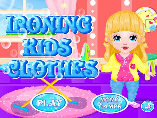 熨燙衣服的孩子們遊戲
