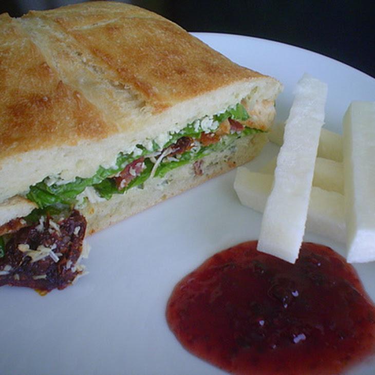 Caesar Salad Club Sandwich Recipe