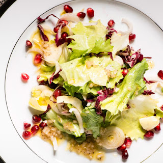 Winter Lettuces with Pomegranate Seeds.