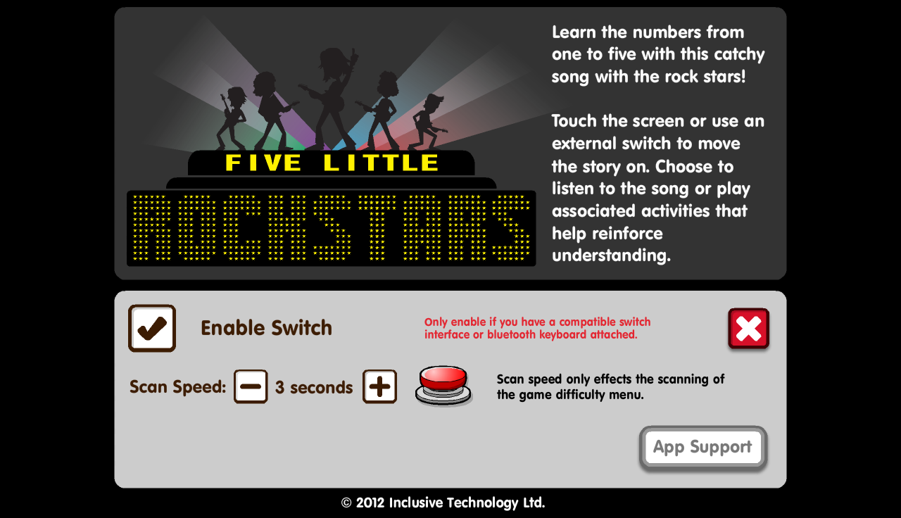 Five Little Rock Stars- screenshot