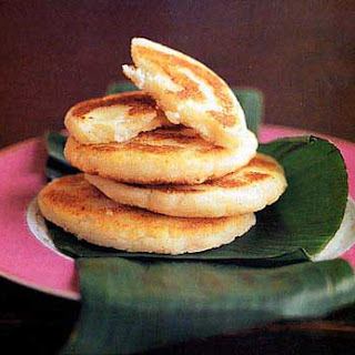 Fried Masa Cakes with Cheese (Arepas de Queso).