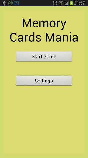 Memory Cards Mania