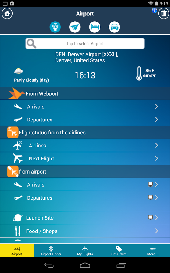 Denver Airport +Flight Tracker- screenshot