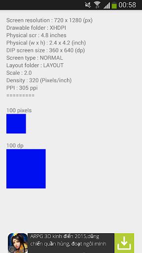 Screen Density Resolution