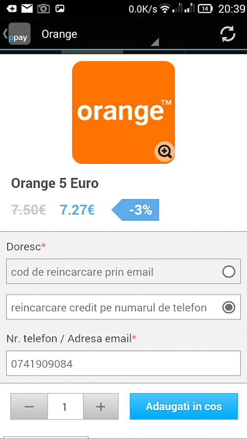 Reincarcare Cartela- screenshot