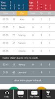 Screenshot of Basketball Stats Keeper