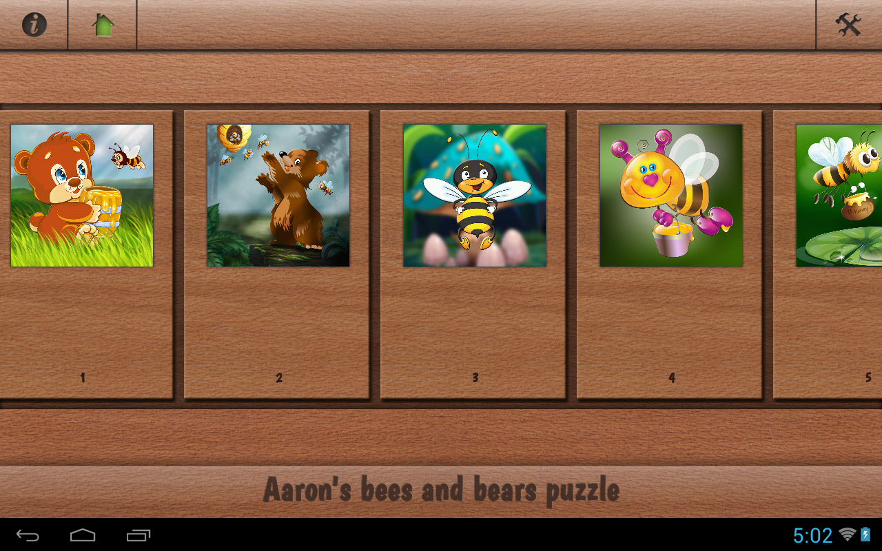 Aaron's Kids Honey Bear Puzzle- screenshot