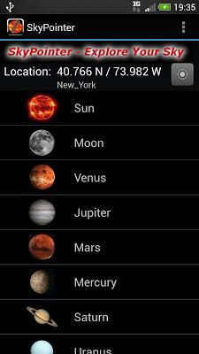 SkyPointer - screenshot