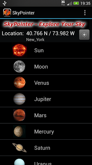 SkyPointer screenshot for Android