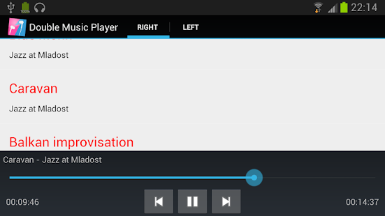 Double Music Player Pro- screenshot thumbnail