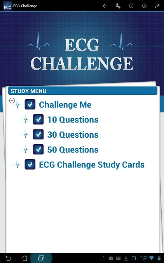 ECG Challenge - screenshot