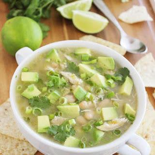 Easy Salsa Verde White Chicken Chili.