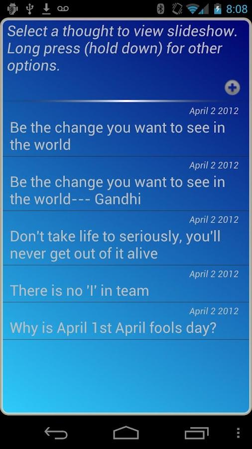 my Thoughts- screenshot