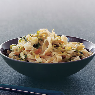 Fettuccine with Brussels Sprouts and Pine Nuts.