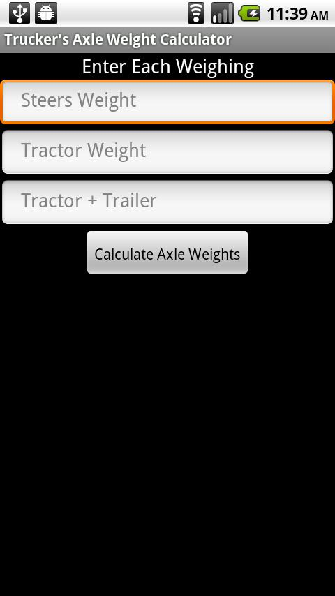 Trucker's Axle Weight Calc - screenshot