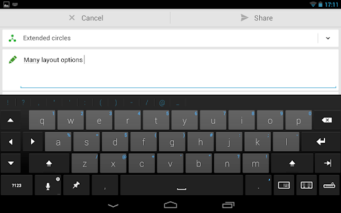 Thumb Keyboard Screenshot 32