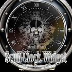 スカルモチーフ・アナログ時計ウィジェット2 icon