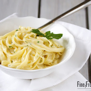Pasta in Cheese Sauce.