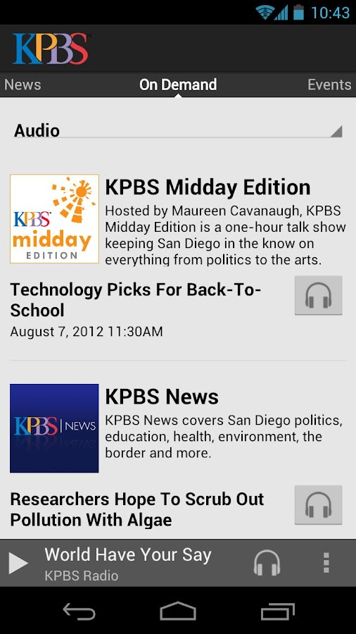 KPBS - screenshot