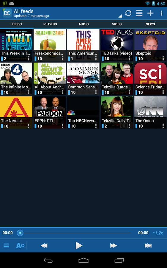 DoggCatcher Podcast Player - screenshot