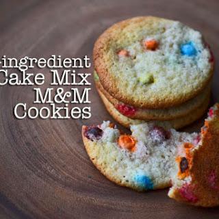 Cake Mix M&M Cookies