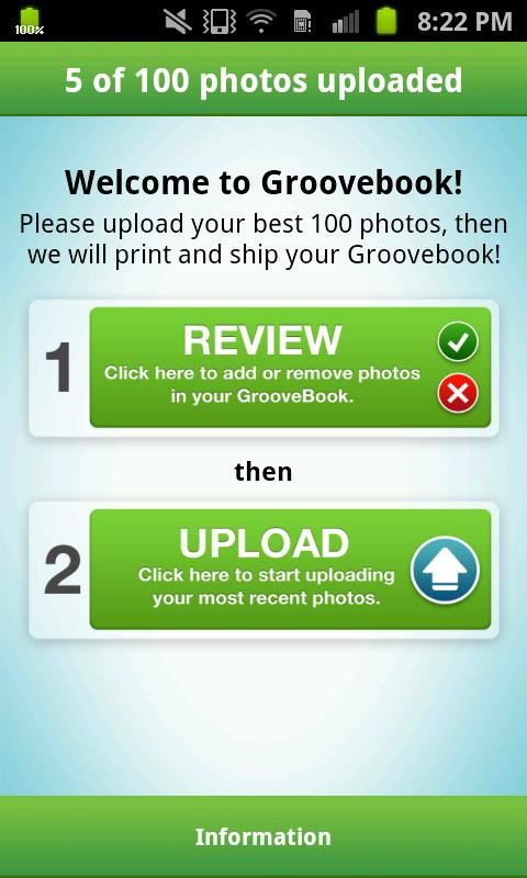 Groovebook Photobook - screenshot