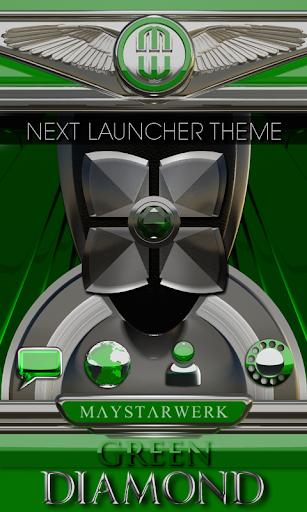 Next Launcher theme Green Diam