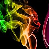 Colourful Smoke Wallpaper