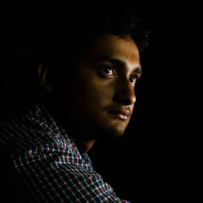 Presence by Caesar Jees - People Portraits of Men ( portraiture, lowlight, people, light, portrait )