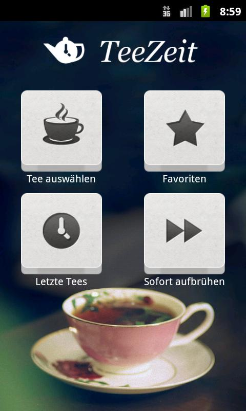 TeaTimer - screenshot
