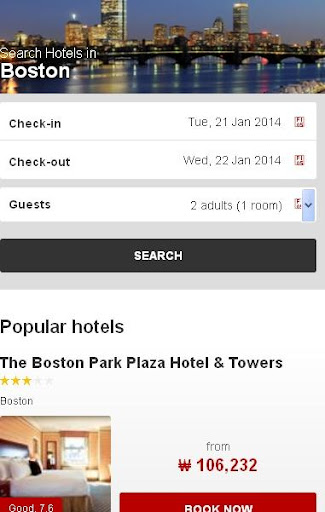 Boston Hotel booking