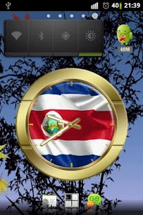 Costa Rica flag clocks- screenshot thumbnail