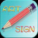 Signature artistique icon